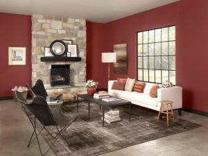 Wall Color Red Cinnabar CSP-1165.  Photo Courtesy of Benjamin Moore Paints