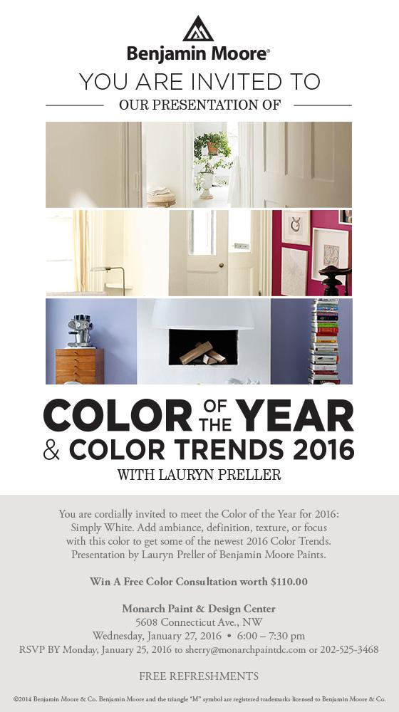 FREE Savvy Color Design Advice On January 27th